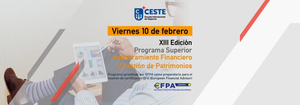 XIII Edición Programa Superior Asesoramiento Financiero y Gestión de Patrimonios
